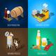 Isometric Beer 2x2 Concept