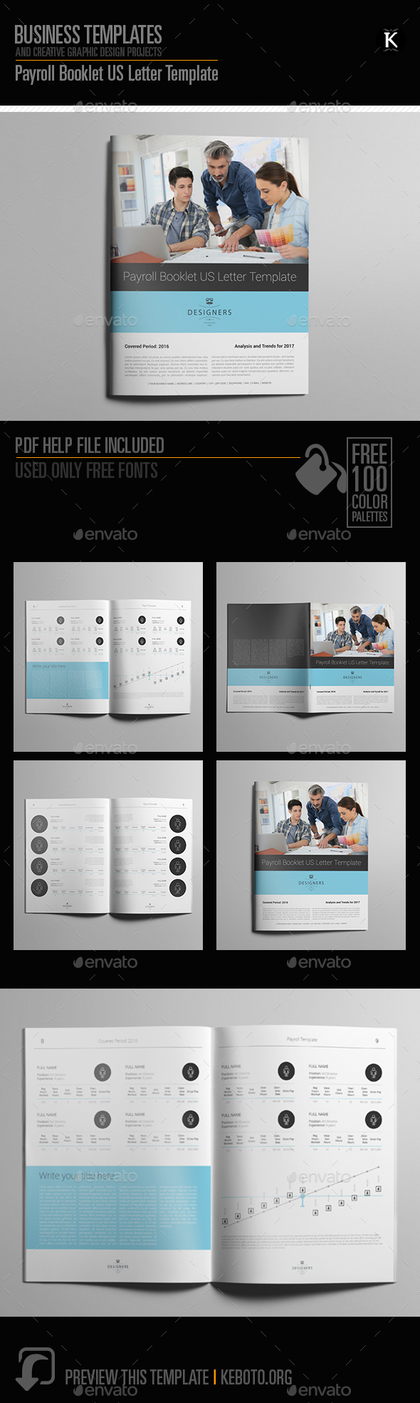 GraphicRiver Payroll Booklet US Letter Template 20594653