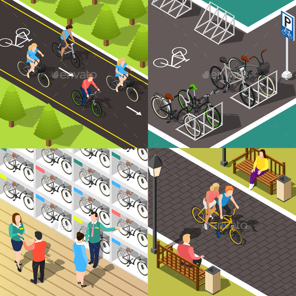 GraphicRiver Bicycle 2x2 Concept 20594654