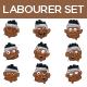 Labourer Set - GraphicRiver Item for Sale