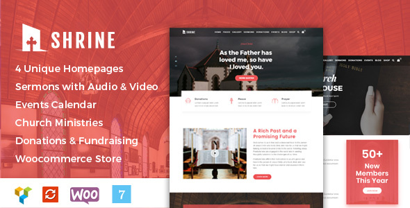 Image of Shrine - A Multipurpose Responsive Church WordPress Theme