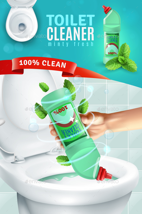 Toilet Cleaner Ad Background - Miscellaneous Vectors