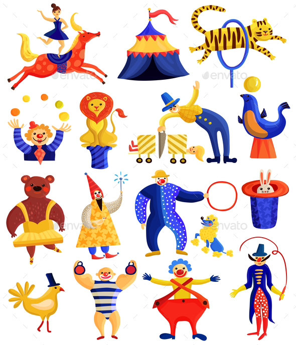 GraphicRiver Circus Artists Collection 20595325