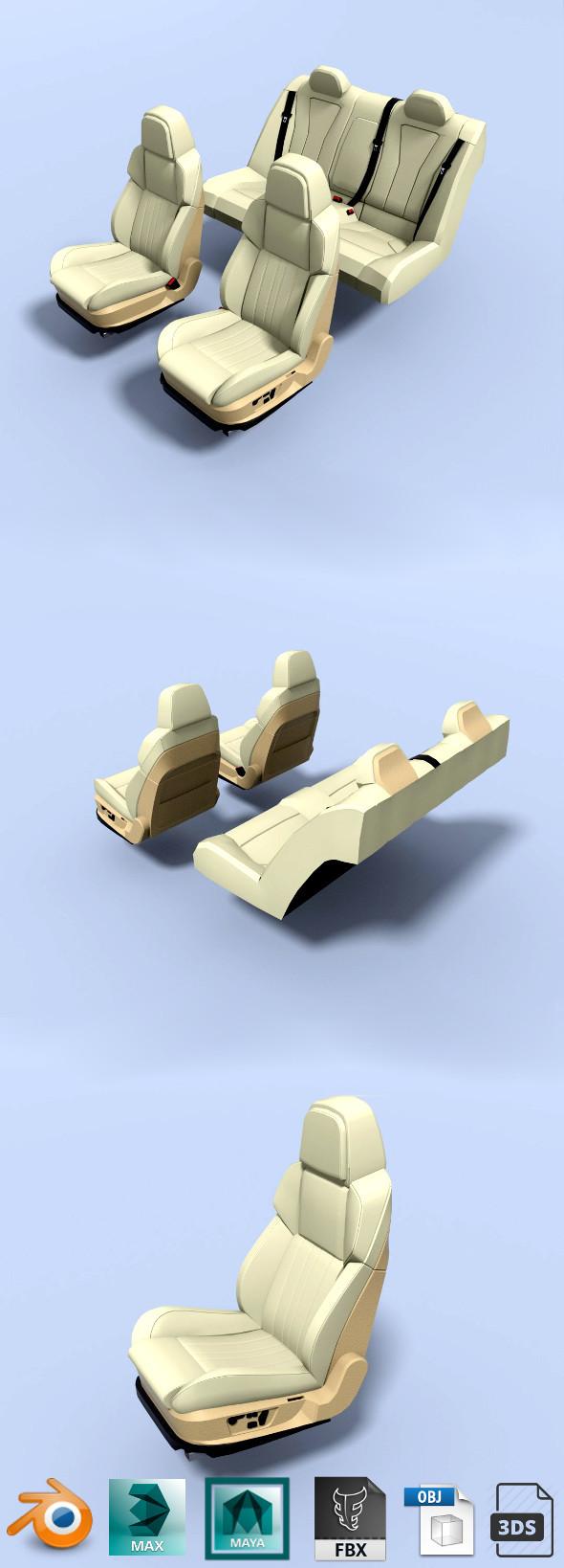 car seats - 3DOcean Item for Sale