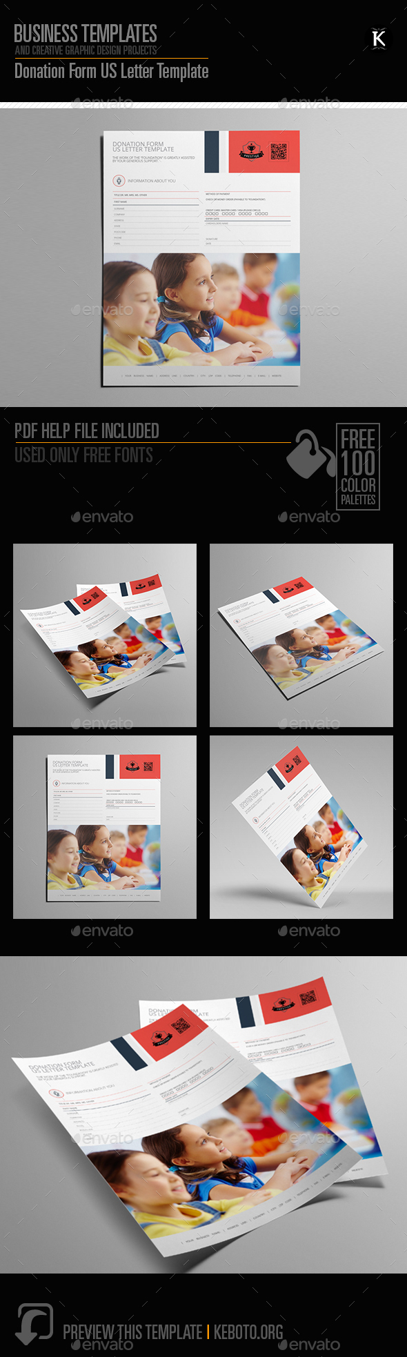 GraphicRiver Donation Form US Letter Template 20595428