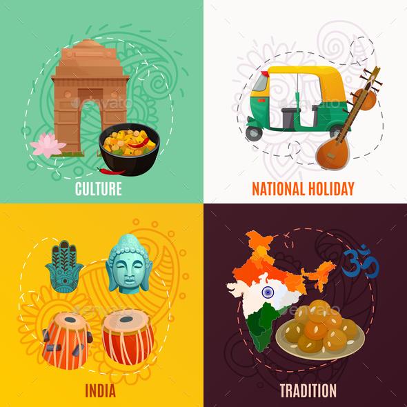 India 2x2 Design Concept - Miscellaneous Vectors