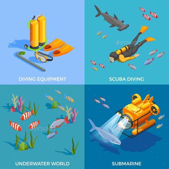 GraphicRiver Scuba Diving Design Concept 20595554