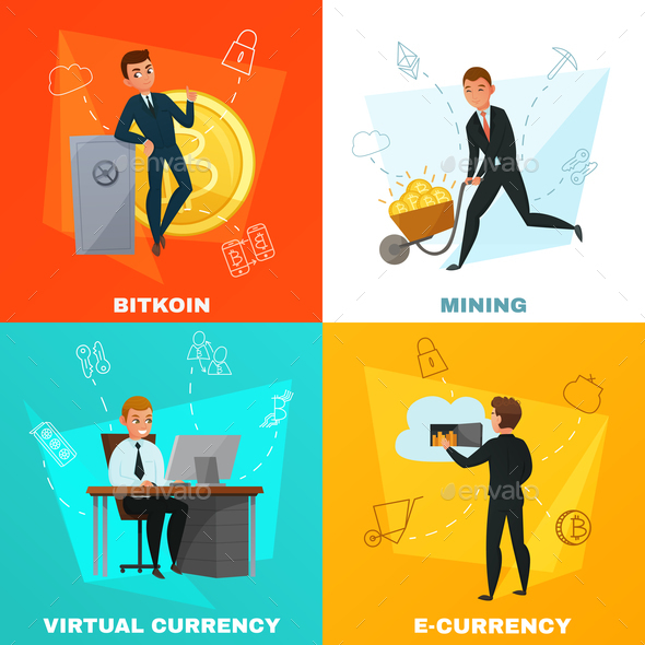 GraphicRiver Cryptocurrency Bitcoin Concept 20595561