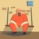 Man in Prison Vector