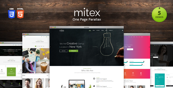 ThemeForest Mitex One Page Parallax Joomla Template 20595888