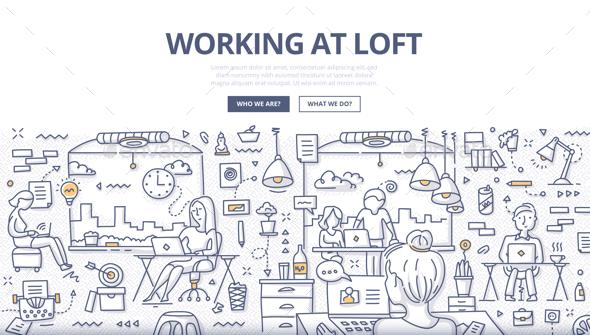 Working at Loft Doodle Concept - Concepts Business