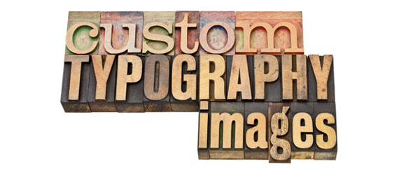 Custom typography 590x242