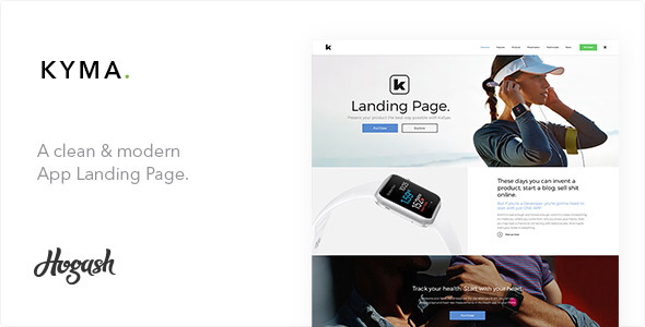Kyma One Page | One Page parallax - Technology Site Templates