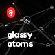 Abstract Glassy Atoms Backgrounds - GraphicRiver Item for Sale