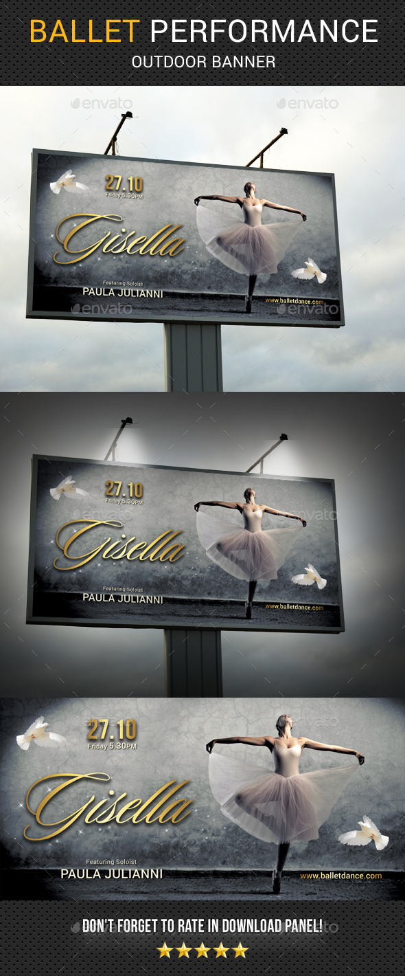 Ballet Outdoor Banner - Packaging Print Templates