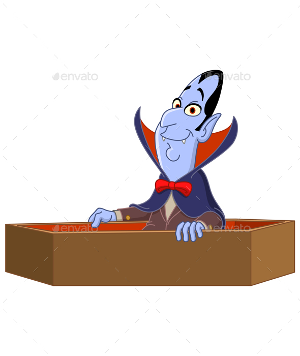 GraphicRiver Vampire Raising from Coffin 20596158