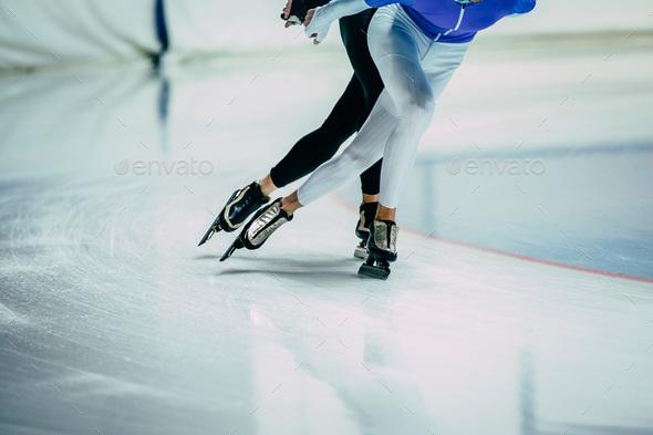 Feet man athletes skater - Stock Photo - Images