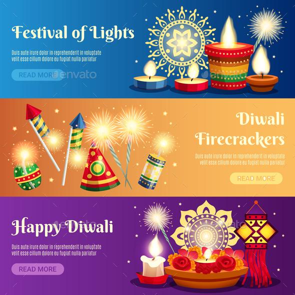 Diwali Horizontal Banners - Religion Conceptual