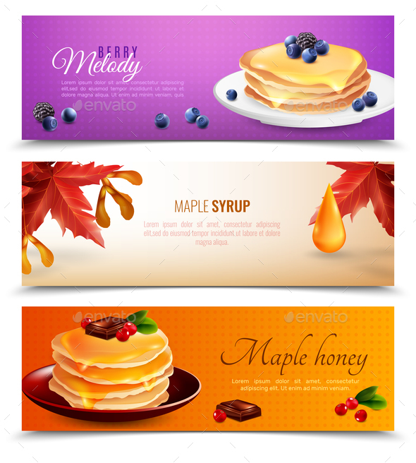 GraphicRiver Maple Syrup Banners Set 20596405