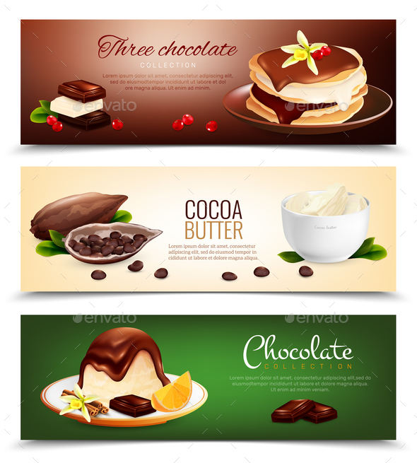 GraphicRiver Chocolate Products Horizontal Banners 20596406