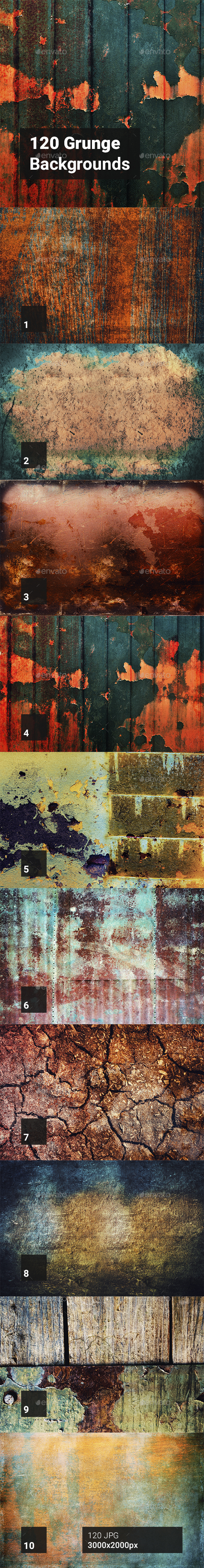 GraphicRiver 120 Grunge Backgrounds 20596413