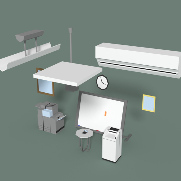 3DOcean Low Poly Office Miscellaneous Items 20596414
