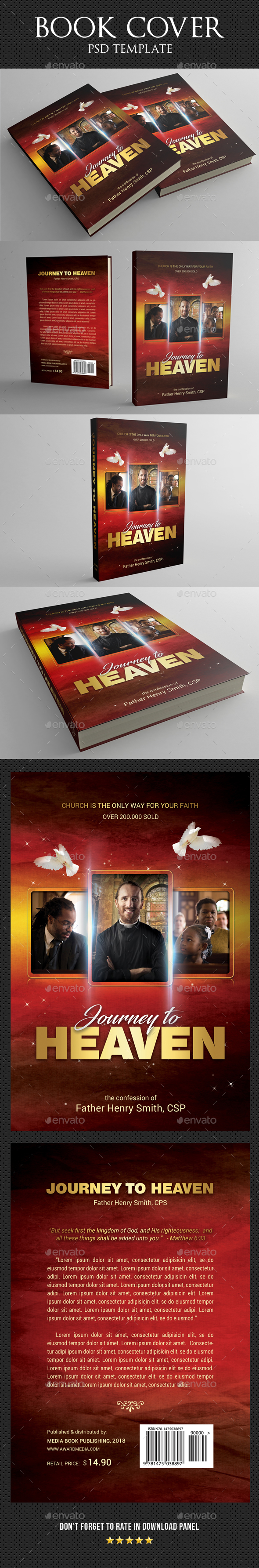 GraphicRiver Journey To Heaven Book Cover Template 20596417