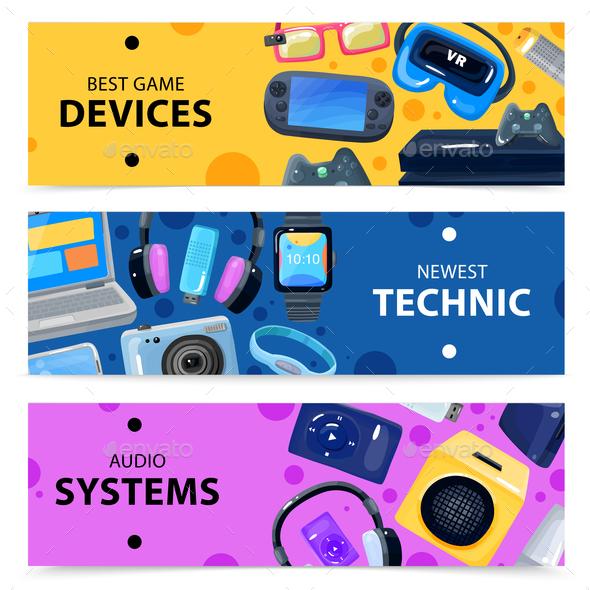 Smart Technics Banners Set - Business Conceptual
