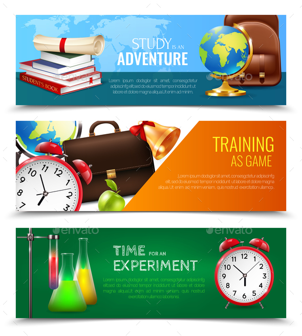 GraphicRiver School Education Banners Set 20596445