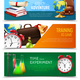School Education Banners Set