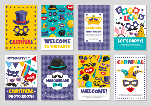 GraphicRiver Carnival Party Banners 20596507