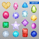 Gemstones Transparent Icon Set