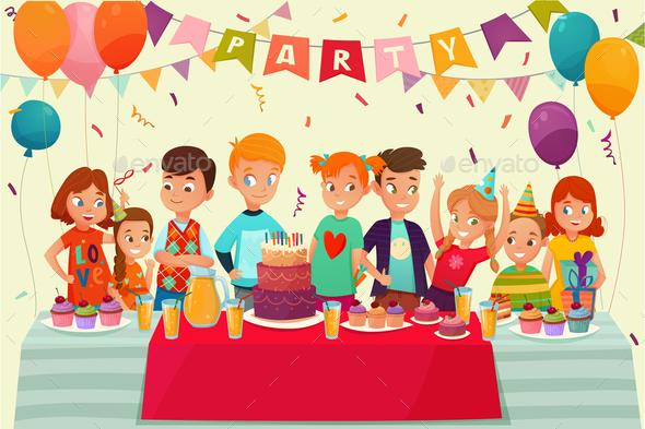 Kids Party Poster - Miscellaneous Vectors
