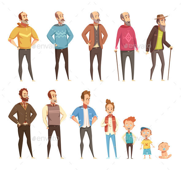 GraphicRiver Men Generation Decorative Icons Set 20596582