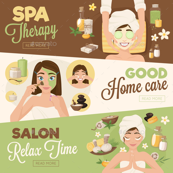 Salon Woman Therapy Banners - Miscellaneous Vectors