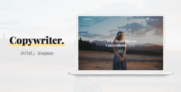 Copywriter   HTML5 Template (Portfolio)