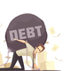 Business Failure Debt Cartoon Icon
