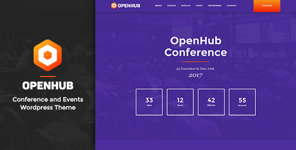 Image of OpenHub - A Stylish Events & Conference Theme