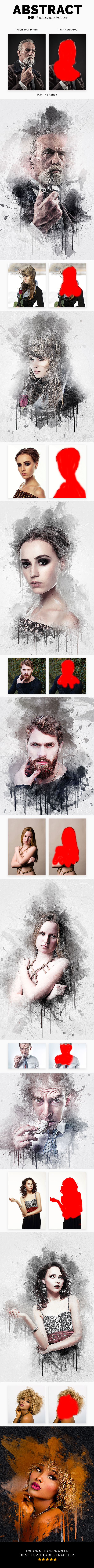 GraphicRiver Abstract Ink Photoshop Action 20596640