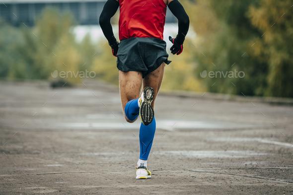 Man runs marathon - Stock Photo - Images