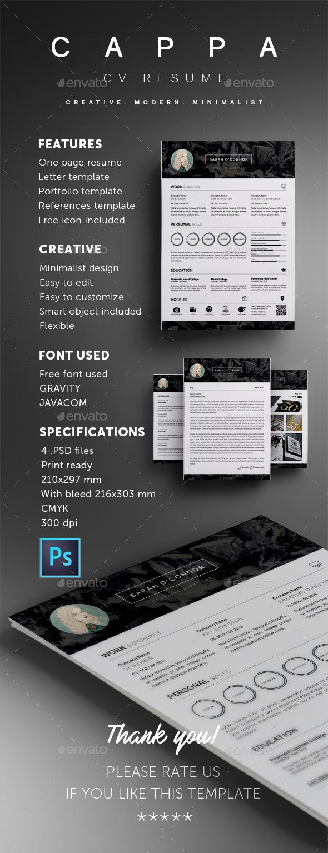 GraphicRiver CAPPA Modern CV Resume Template 20596855