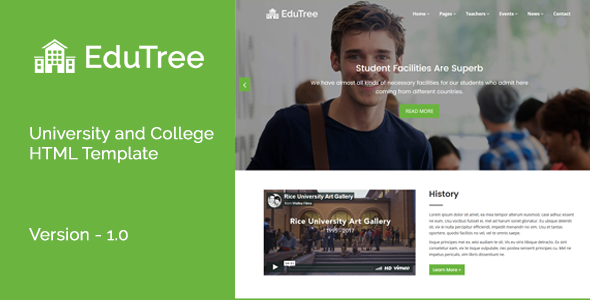 Download EduTree - University and College HTML Template