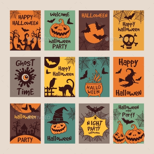 Halloween Party Invitation Cards