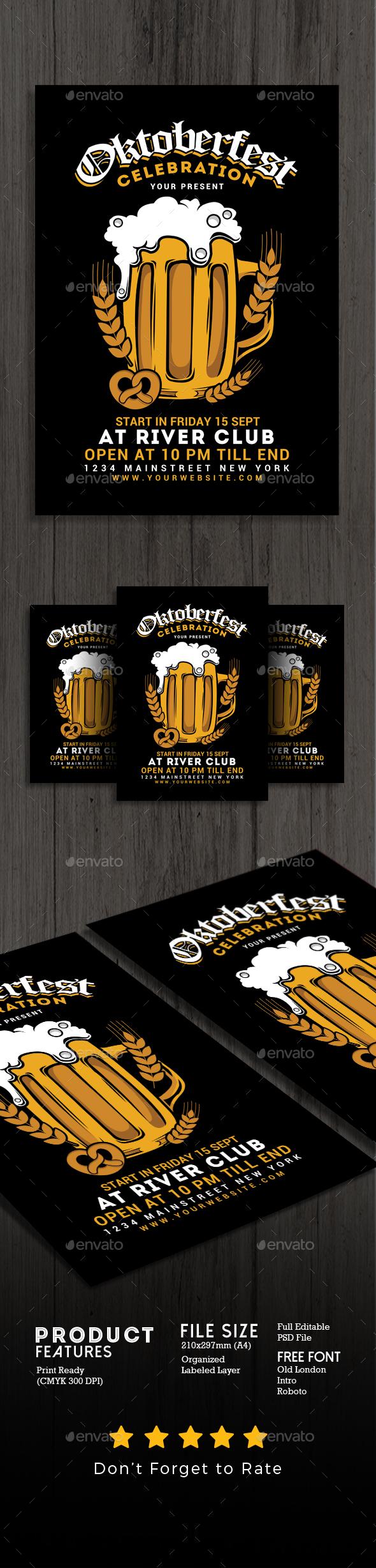 Oktober Fest Flyer - Events Flyers