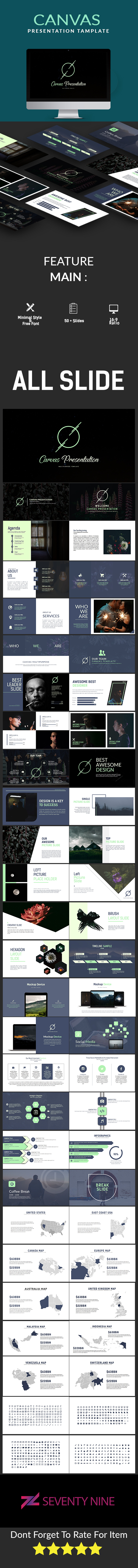 Canvas Multipurpose Google Slide Template - Google Slides Presentation Templates