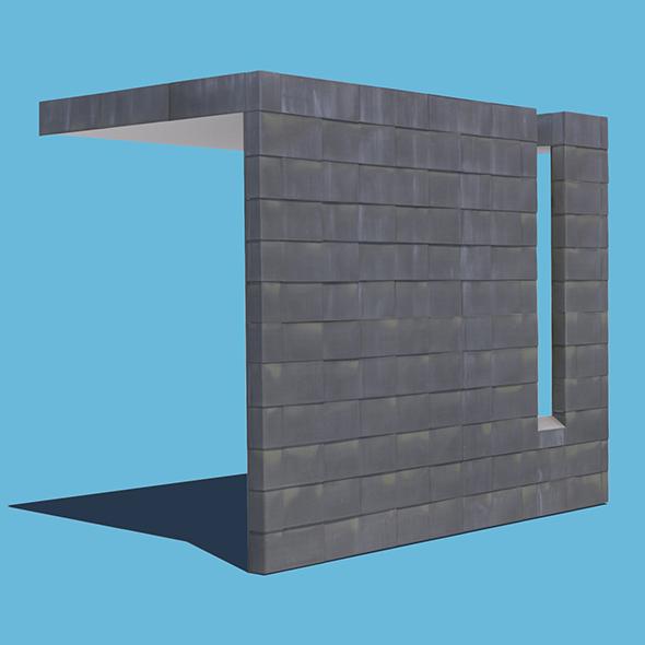 3DOcean Metal Tiled Wall 20597063