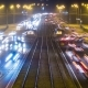 Intensive Road Traffic on the Road at Night - VideoHive Item for Sale