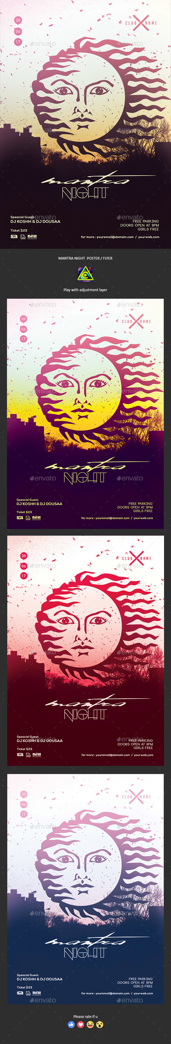 Mantra Night Party Poster / Flyer - Clubs & Parties Events