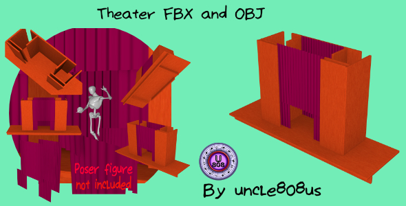 3DOcean Theater Stage FBX and OBJ 20597532