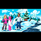 Snowboarders Boy and Girl on the Mountain - GraphicRiver Item for Sale